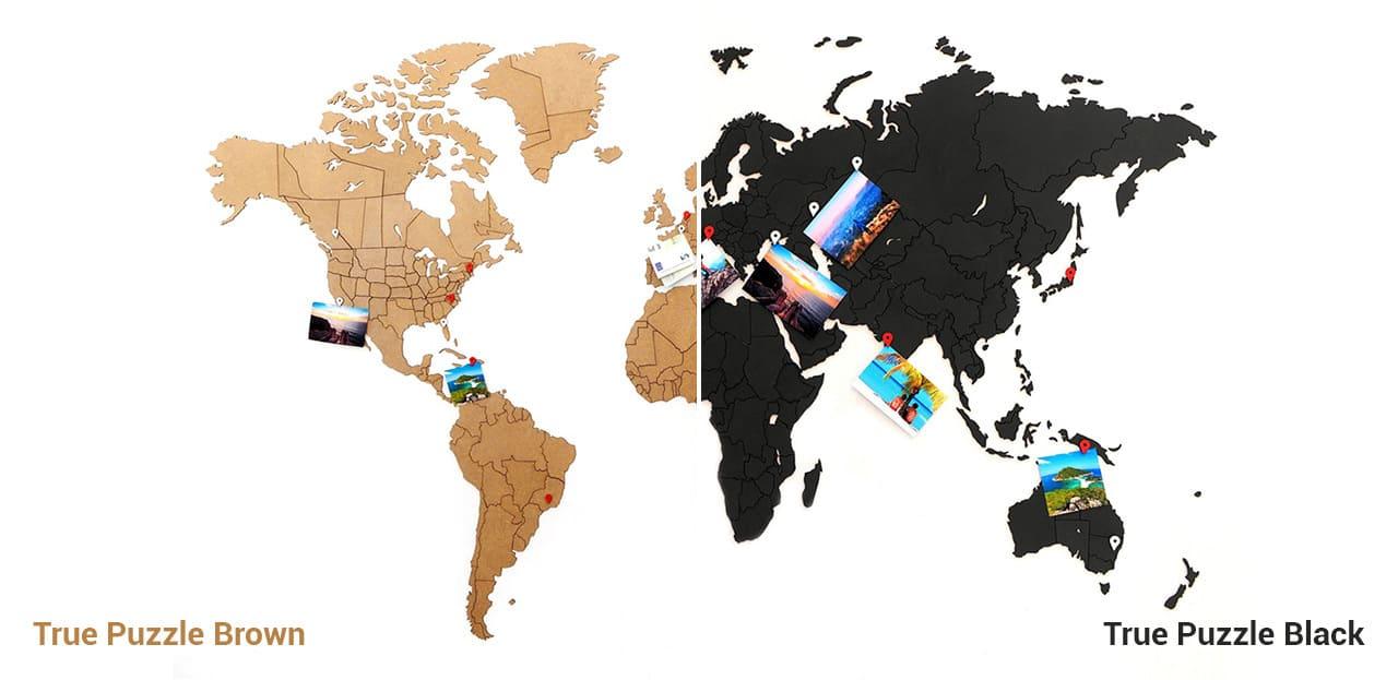 Деревянные карты мира MapPuzzle - True Puzzle