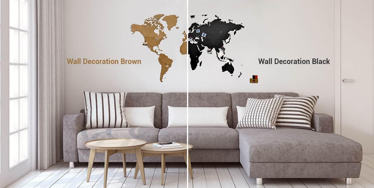 Деревянные карты мира MapPuzzle - Wall Decoration