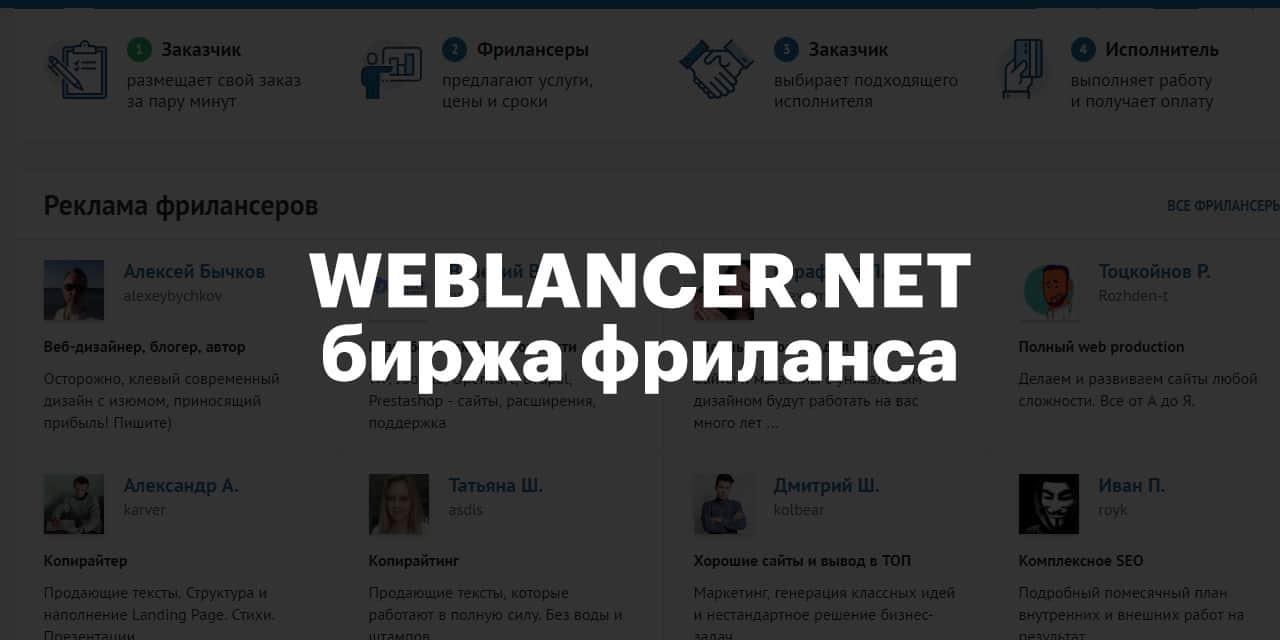 Лучшие биржи фриланса для удаленной работы 2020 - Биржа фриланс-услуг Weblancer.net - фото