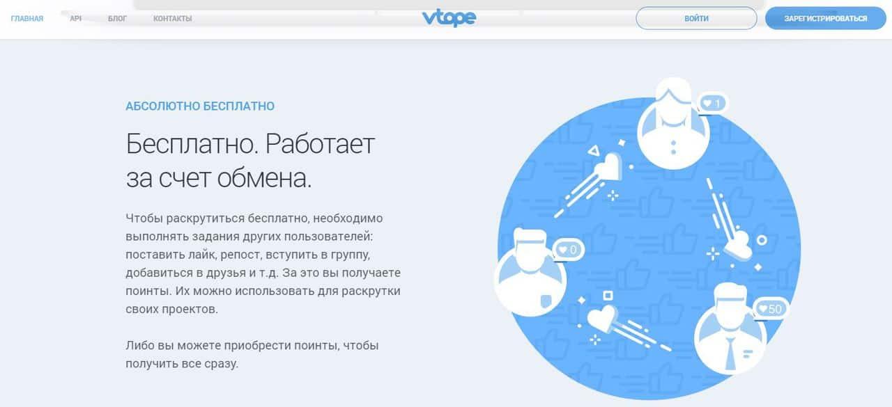 Обзор сервисов накрутки в социальных сетях - Vtope - фото