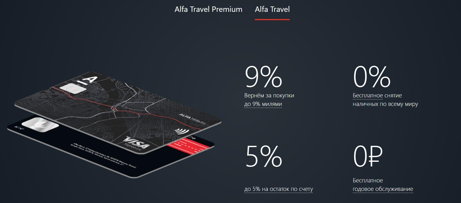 Дебетовая карта Alfa Travel для путешествий. Условия, мили, тарифы