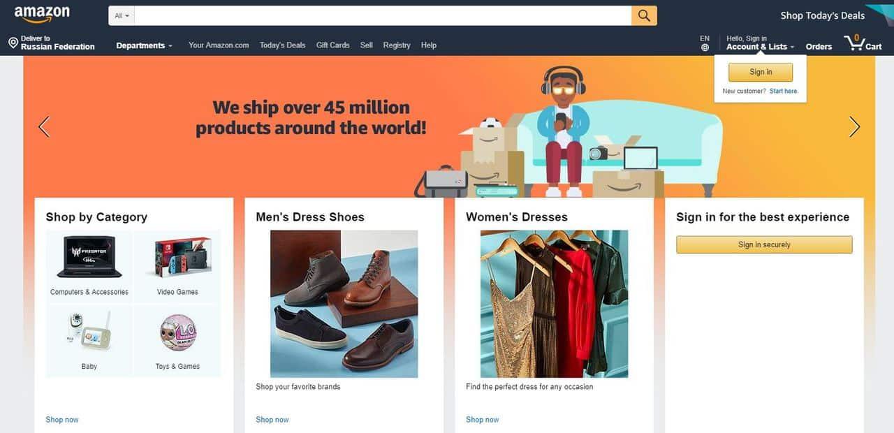 Как заказывать товары с Амазона? Доставка с Amazon в Россию