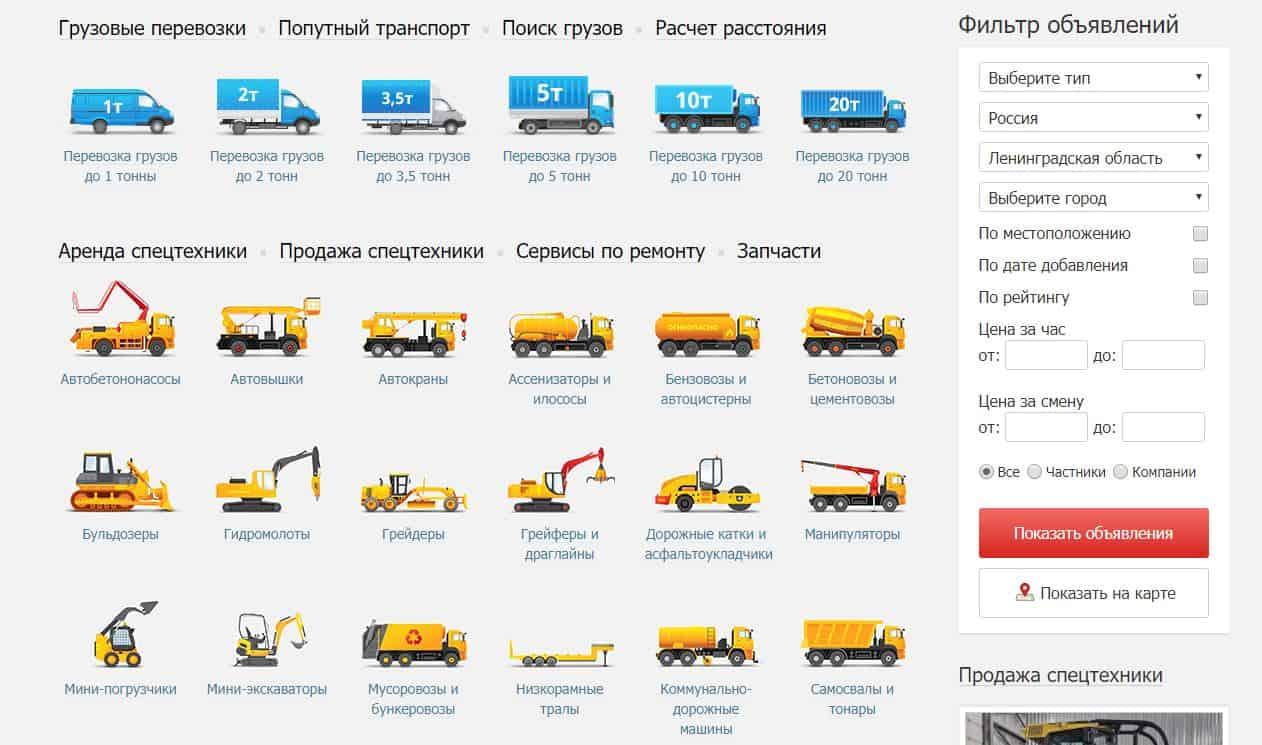 Обзор сервиса грузоперевозок и аренды спецтехники Перевозка24