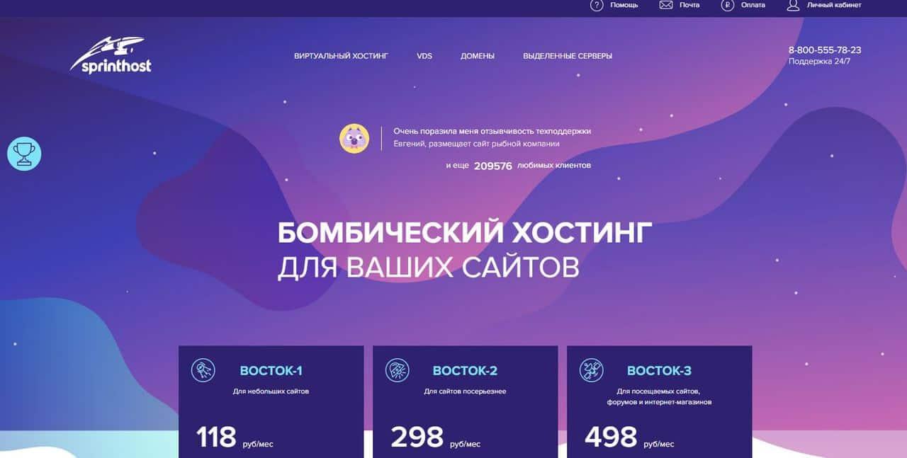 Топ-10 лучших хостингов в России. Где разместить свой сайт? - Sprinthost - фото