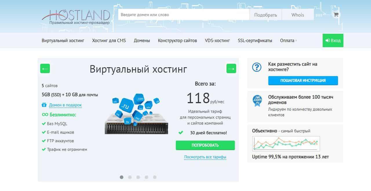 Топ-10 лучших хостингов в России. Где разместить свой сайт? - Hostland - фото