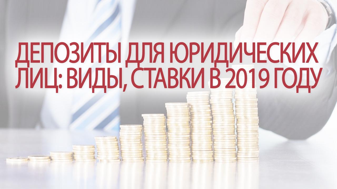 Депозиты для юридических лиц: понятие, виды, особенности, ставки в 2019 году