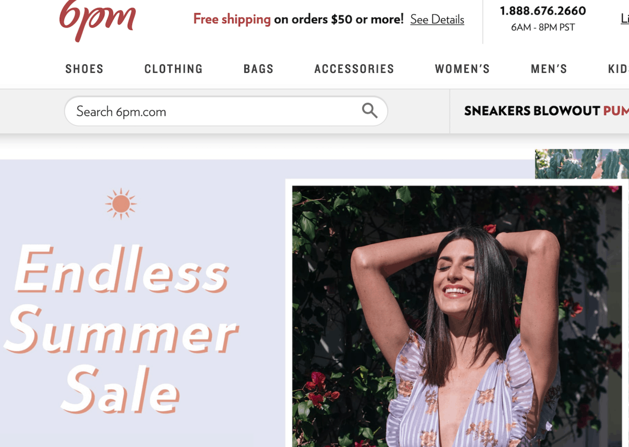 Рейтинг лучших зарубежных интернет-магазинов одежды с доставкой в Россию - 6PM.com - фото