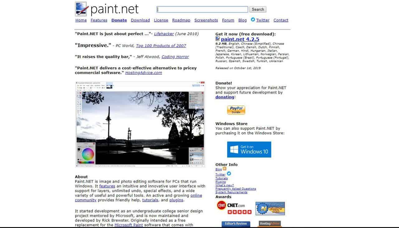 Бесплатные аналоги Фотошоп (Photoshop) в 2020. Лучшие растровые графические редакторы онлайн. - Paint NET - фото