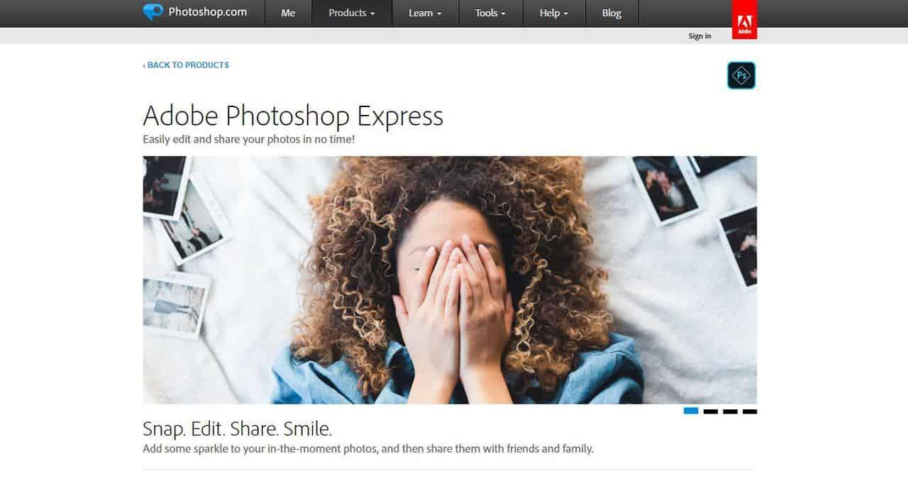 Бесплатные аналоги Фотошоп (Photoshop) в 2020. Лучшие растровые графические редакторы онлайн. - Adobe Photoshop Express - фото