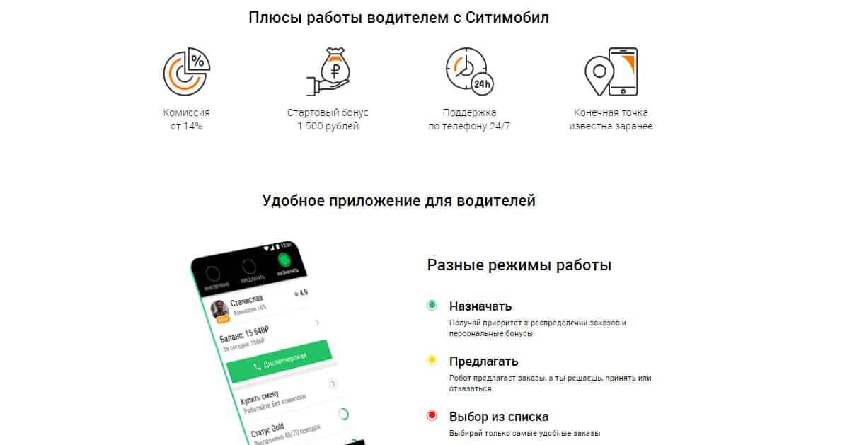 Как устроиться водителем в такси Сити мобил