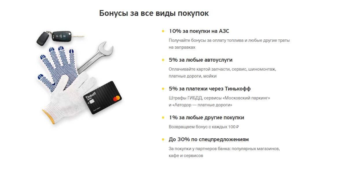 Плюсы и минусы кредитной карты Тинькофф Драйв