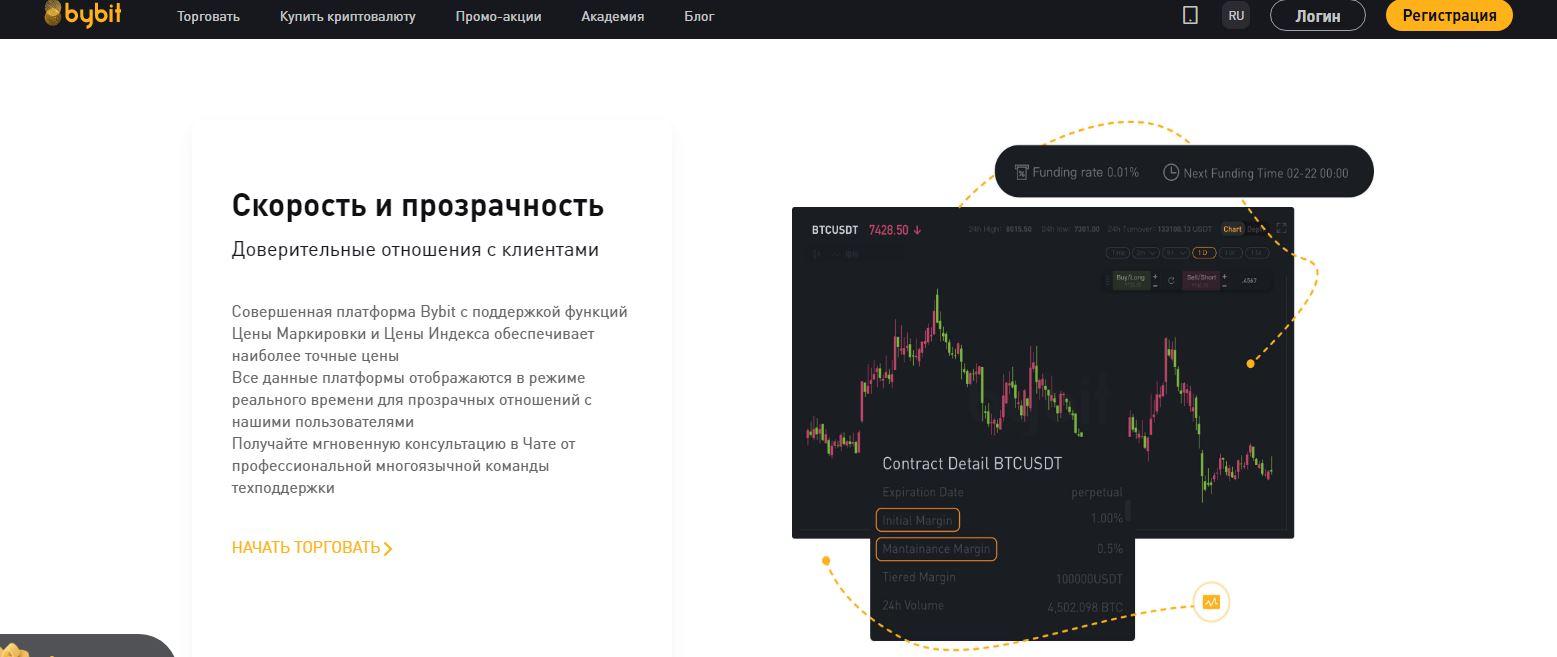 Рейтинг лучших бирж криптовалют 2021. Топ криптобирж на русском - ByBit - фото